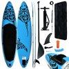 Nafukovací SUP paddleboard 305 x 76 x 15 cm modrý
