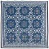 Esschert Design Venkovní koberec 151,5 cm modrobílý OC23