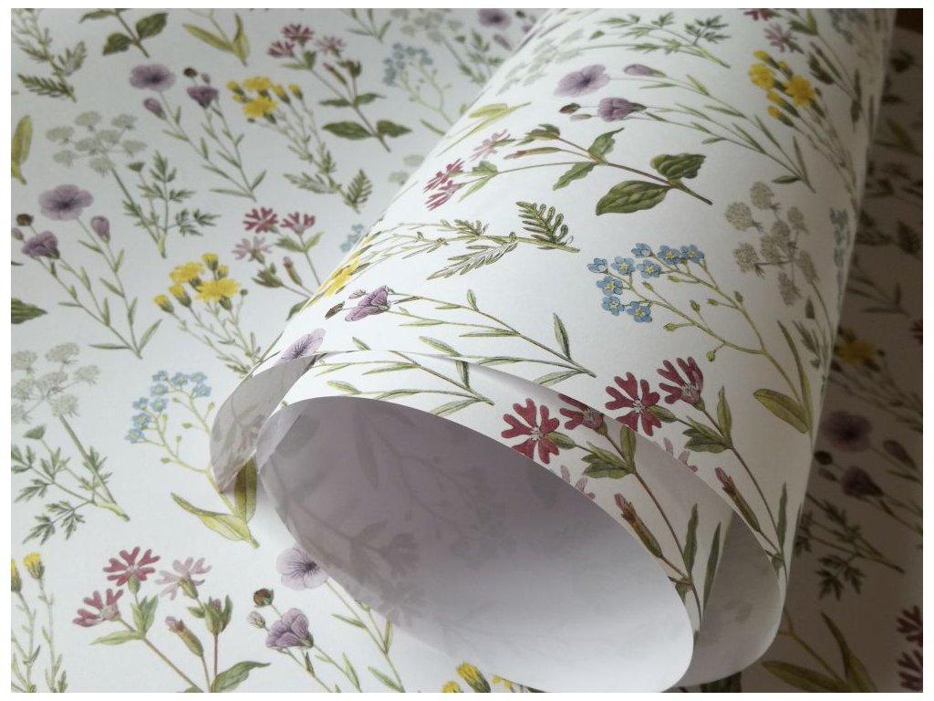 Dekorační papír květinová louka