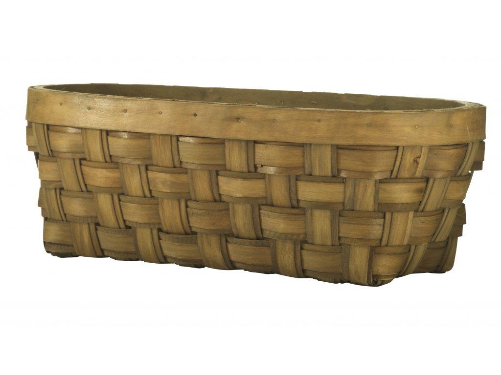 Košík z přírodního dřeva na ukládání potravin