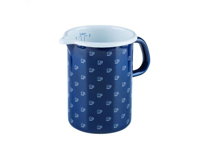 Odměrka modrá s květy 1 litr