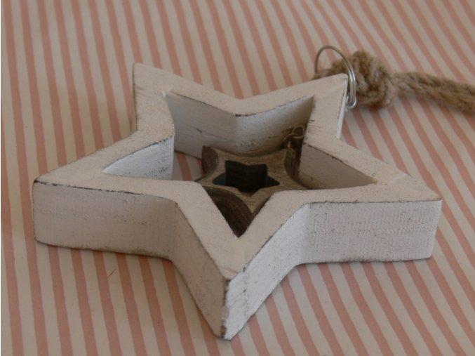 Ozdoba dřevěná hvězda 10 cm