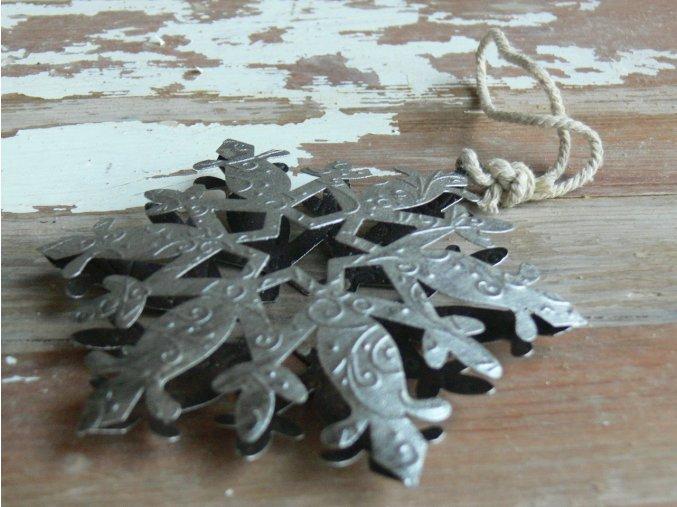 Vločka stříbrná závěsná ozdoba