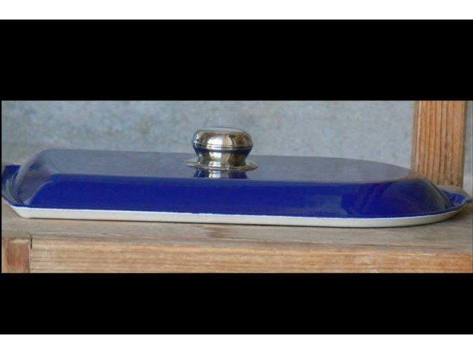 Litinové víko k pekáči tmavě modré
