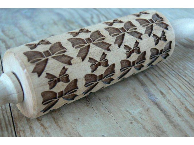 Mini  dřevěný váleček  mašle