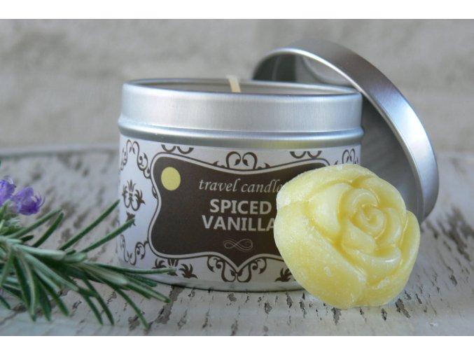 Svíčka v plechovce na cesty - vůně vanilka