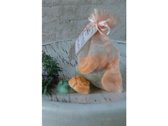 Mix vonných vosků v látkovém sáčku Kiwi-meloun-jahoda 12 kusů