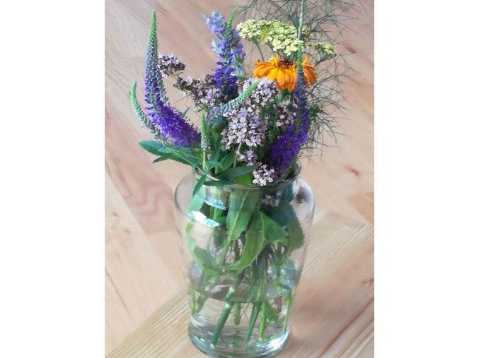 Skleněná váza na květiny 20 cm