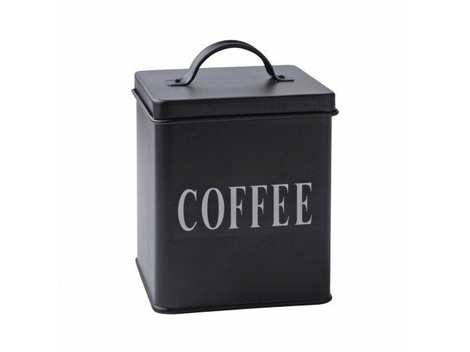Plechová dóza na kávu černá