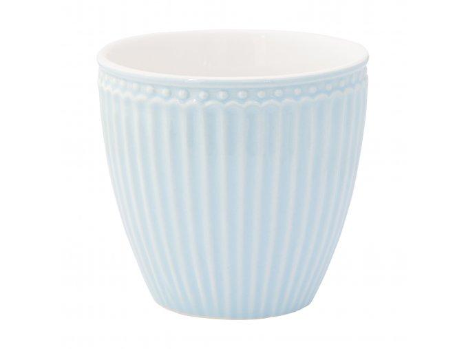 Šálek na kávu nebo čaj v krémově modré