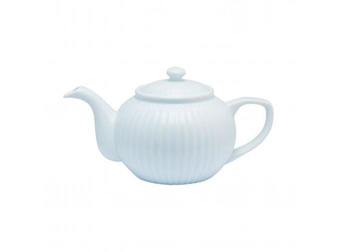 Čajová konvice pastelově modrá objem 1 l