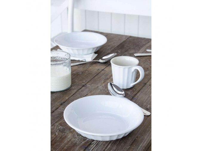 Hluboký talíř  bílý