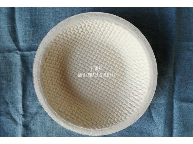 Forma na kynutí chleba, 1 kg, kulatá, vzor vafle
