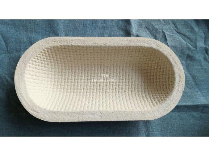 Forma na kynutí chleba 1 kg, ovál, vzor wafle