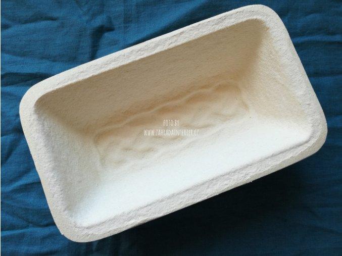Forma na kynutí chleba, hranatá, vzor cop, 750 g