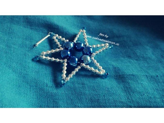 Perličková ozdoba - hvězda z korálků