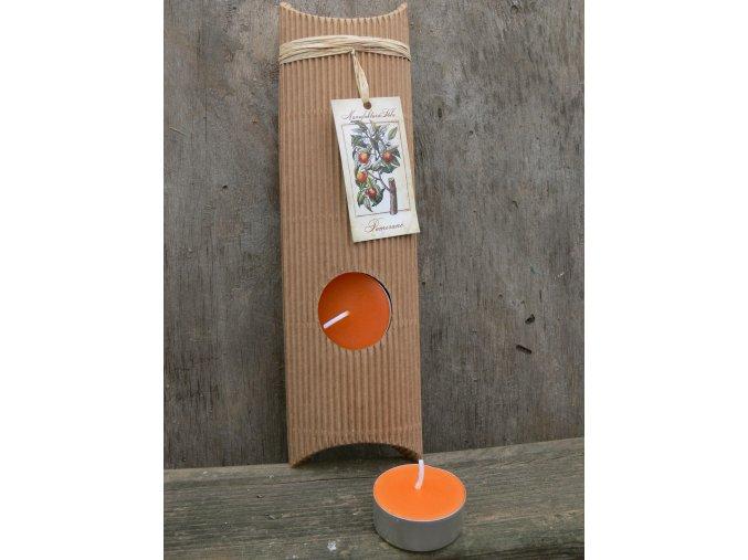 Čajová svíčka dárková - pomeranč