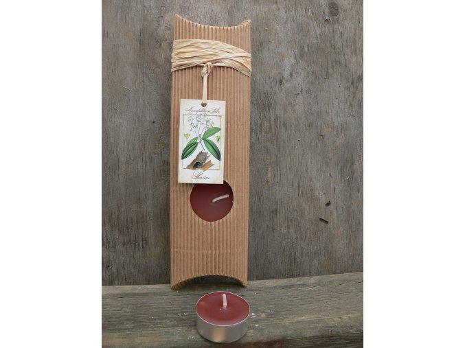 Čajová svíčka dárková - skořice