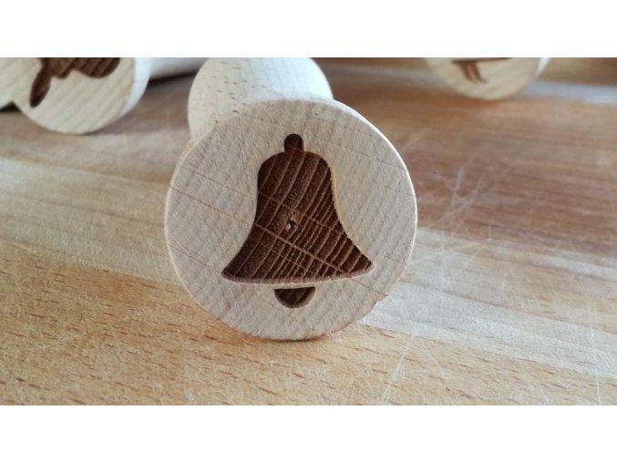 Dřevěné razítko zvonek