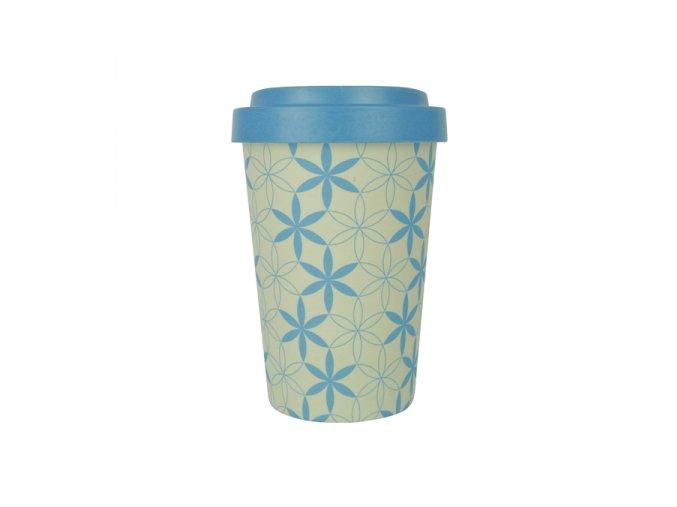 woodway bamboo cup opakovane pouzitelny kelimek z prirodnich materialu zelenadomacnos geometric flowers blue