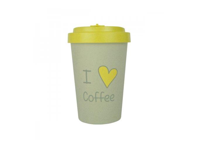 woodway bamboo cup opakovane pouzitelny kelimek z prirodnich materialu zelenadomacnost i love coffee yellow