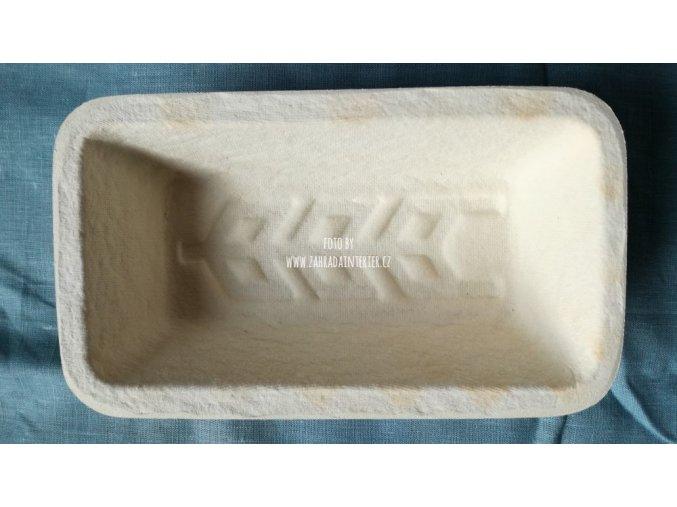 Forma na  kynutí chleba, hranatá, vzor klas, 750 g