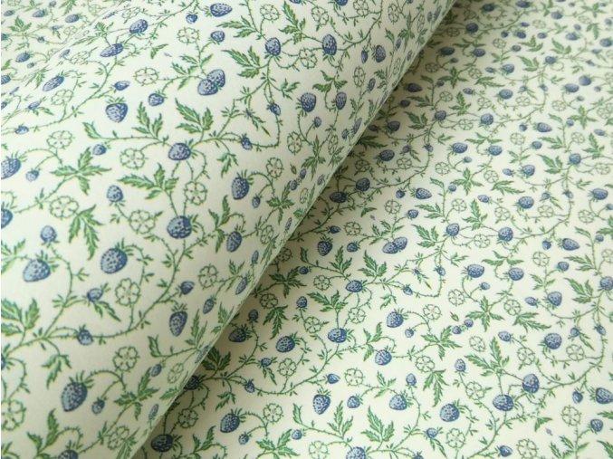 Dekorační papír modré jahody