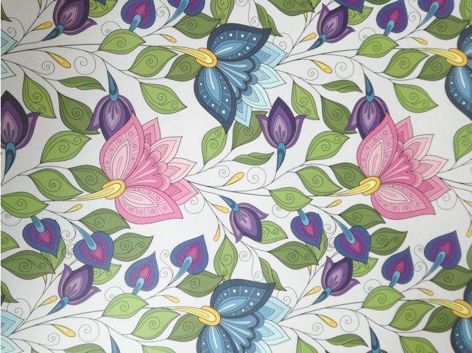 Dekorační papír velké květy