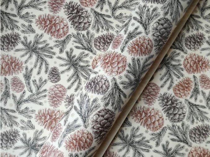 Dekorační papír šišky