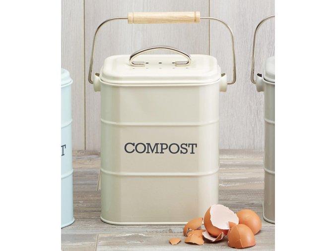 Kompostér krémový 3 litry