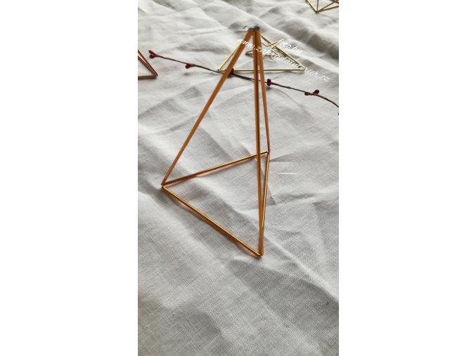Himmeli ze skla  - trojúhelník