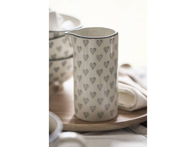 Džbánek na smetanu Grey Heart 200 ml