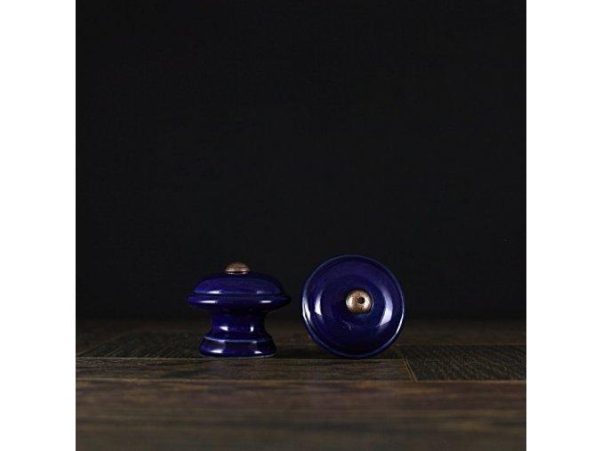 Knopka kobalt malá hladká