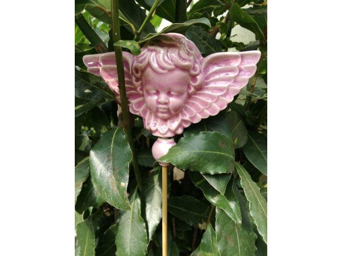 Zápich anděl lila
