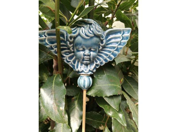 Zápich anděl modrý