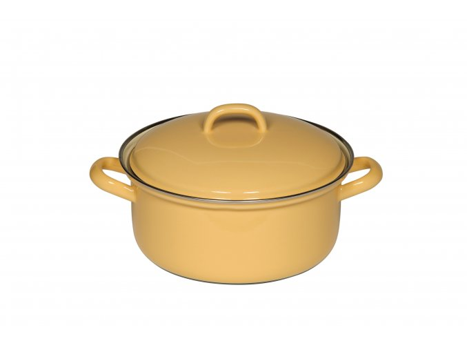 CLASSIC Pastell Bunt Kasserolle mit Deckel 20cm goldgelb 0280 006