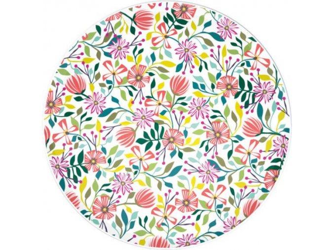 Melaminový talíř s květy