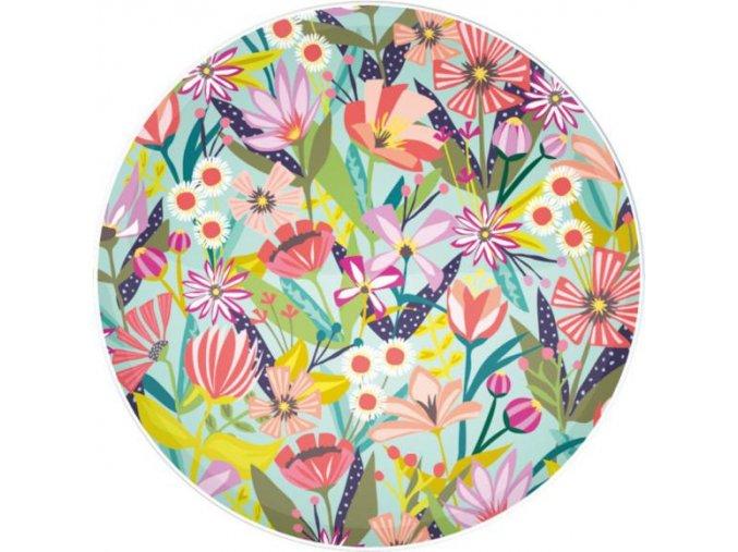 Melaminový talíř s motivem květin 28 cm