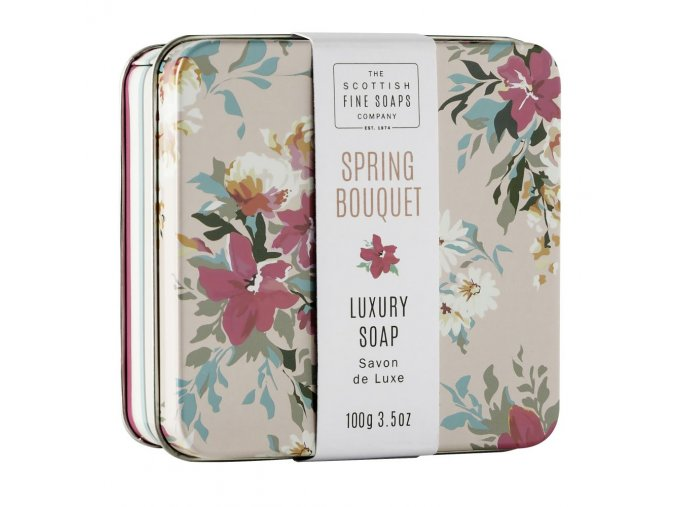 A01053 Floral Spring Bouquet Soap in a Tinl