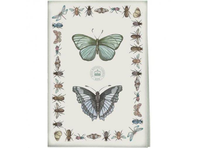 Utěrka s potiskem - motýli
