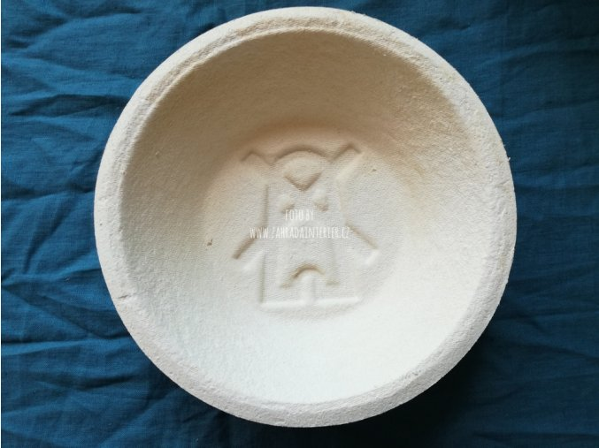 Forma na kynutí chleba, vzor mlýn, kulatá  1 kg
