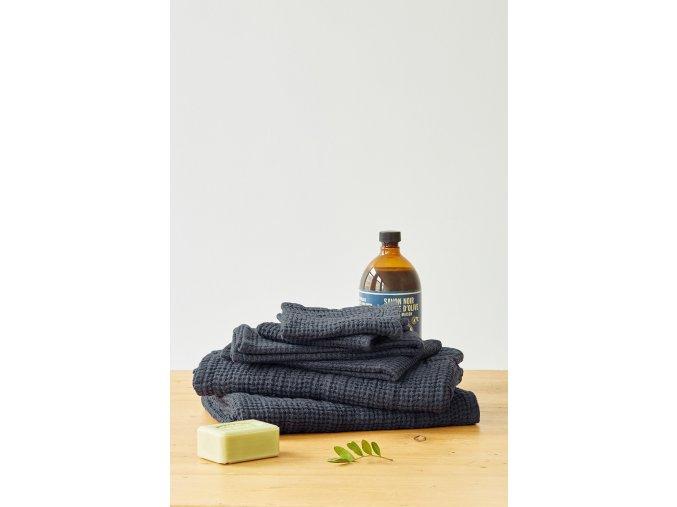 Dark Grey Waffle Towel by Linen Tales