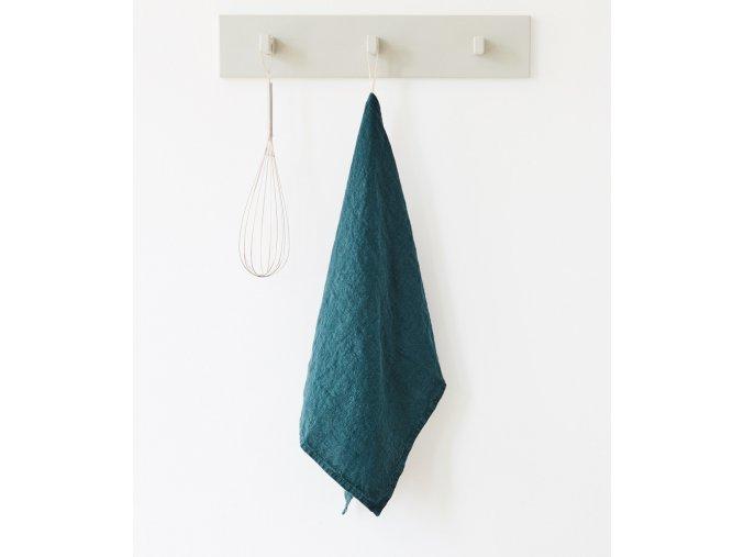 Deep Water Kitchen Towel by Linen Tales
