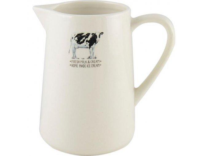 Keramický džbán na mléko