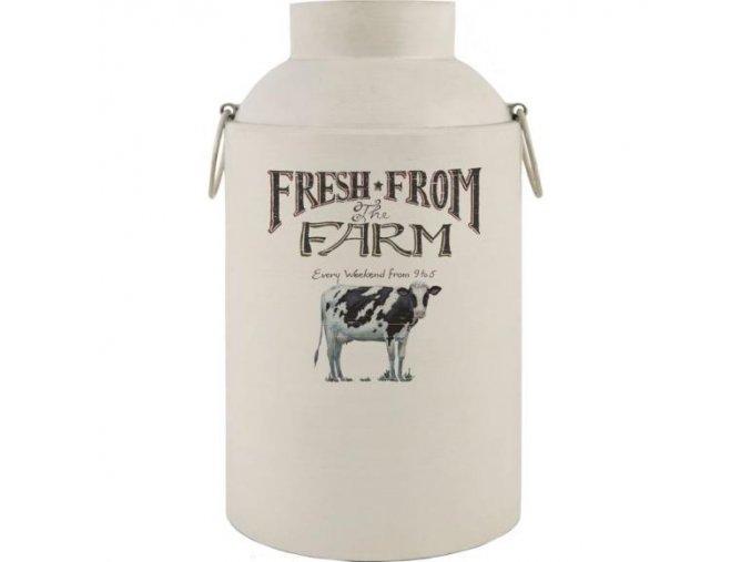 Plechová nádoba na mléko