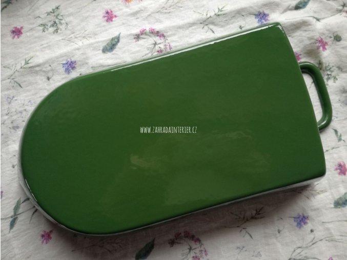 Litinový pekáč malý zelený