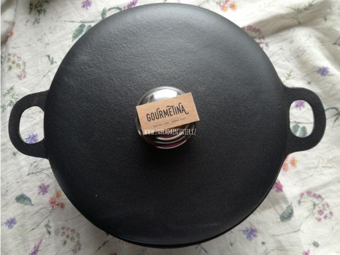 Litinový hrnec s víkem Black Edition