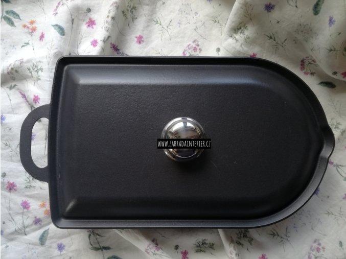 Litinový pekáč velký s víkem Black Edition