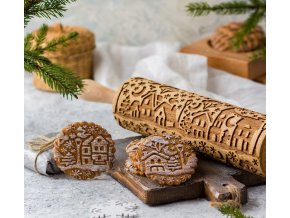 2c538fa3b688849c2e26645223wi tableware winter town theme engraved rolling pin