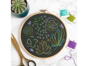 HH Embroidery Hoops Succulents 01B
